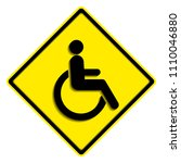 disabled wheelchair icon ...   Shutterstock .eps vector #1110046880