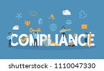 compliance concept illustration.... | Shutterstock .eps vector #1110047330