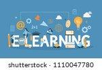 e learning concept.... | Shutterstock .eps vector #1110047780