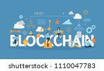 blockchain concept illustration.... | Shutterstock .eps vector #1110047783