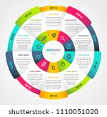 circle infographic template.... | Shutterstock .eps vector #1110051020