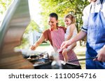 family celebration or a... | Shutterstock . vector #1110054716