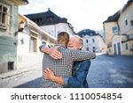an adult hipster son and his... | Shutterstock . vector #1110054854
