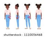 african american teenage girl...   Shutterstock .eps vector #1110056468