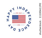 happy independence day... | Shutterstock .eps vector #1110061190