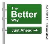 green better way just ahead... | Shutterstock . vector #111006149