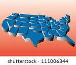 puzzle style movable piece... | Shutterstock .eps vector #111006344