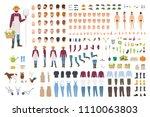 farmer  farm or agricultural... | Shutterstock .eps vector #1110063803