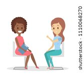 adult woman at psychologist set ...   Shutterstock .eps vector #1110068270