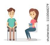 adult man at psychologist on... | Shutterstock .eps vector #1110068279