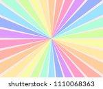 background circular rainbow...   Shutterstock .eps vector #1110068363