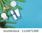 cosmetic bottle containers with ... | Shutterstock . vector #1110071300