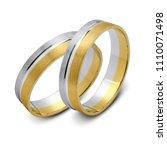 a pair of wedding rings ... | Shutterstock . vector #1110071498