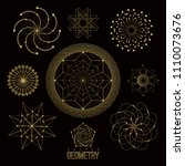 sacred geometry forms  shapes... | Shutterstock .eps vector #1110073676