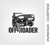 off road car. off roading suv... | Shutterstock .eps vector #1110074216