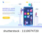 mobile app development concept...