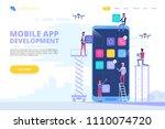 mobile app development concept...   Shutterstock .eps vector #1110074720