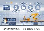 industry 4.0 smart factory... | Shutterstock .eps vector #1110074723