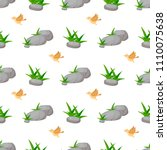 stone rock seamless pattern... | Shutterstock .eps vector #1110075638