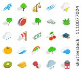 vital icons set. isometric set... | Shutterstock . vector #1110077024