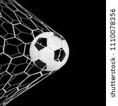 vector realistic soccer ball or ... | Shutterstock .eps vector #1110078356