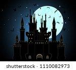 vector halloween background...   Shutterstock .eps vector #1110082973