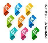 numbers set. vector. | Shutterstock .eps vector #111008420