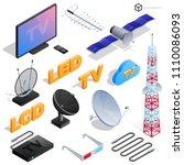 vector tv antenna  realistic... | Shutterstock .eps vector #1110086093