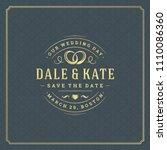 wedding invitation card design... | Shutterstock .eps vector #1110086360