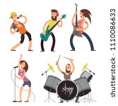 rock musicians and singers... | Shutterstock .eps vector #1110086633