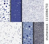 blue terrazzo background.... | Shutterstock .eps vector #1110086753