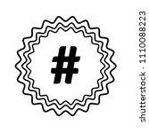 hashtag vector icon | Shutterstock .eps vector #1110088223