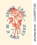 2 Roses Vintage Typography...