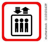 elevator icon. vector... | Shutterstock .eps vector #1110101639