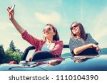 two female freinds take a... | Shutterstock . vector #1110104390