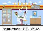 children hospital building with ... | Shutterstock .eps vector #1110105266