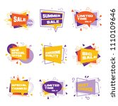 set of colorful abstract label. ... | Shutterstock .eps vector #1110109646
