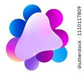 plastic colorful shapes. fluid... | Shutterstock .eps vector #1110117809