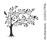 family tree with photo frames.... | Shutterstock .eps vector #1110117956