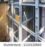 elevator shaft and elevator of...