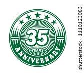 35 years anniversary.... | Shutterstock .eps vector #1110123083