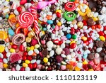 fulled frame with many and... | Shutterstock . vector #1110123119