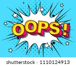 oops  comic vector cartoon... | Shutterstock .eps vector #1110124913