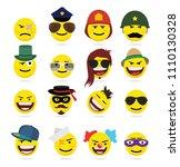 creative emoji emoticons 8   Shutterstock .eps vector #1110130328