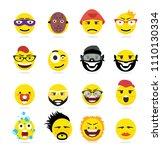 creative emoji emoticons ...   Shutterstock .eps vector #1110130334