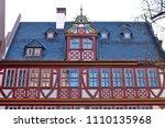 reconstructed half timpered... | Shutterstock . vector #1110135968