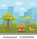 kid s playground colorful... | Shutterstock .eps vector #1110136496