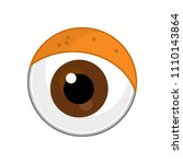 cartoon scene with eyes on... | Shutterstock . vector #1110143864