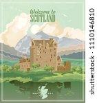 scotland travel vector in...   Shutterstock .eps vector #1110146810