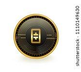 theta token cryptocurrency coin ... | Shutterstock .eps vector #1110149630